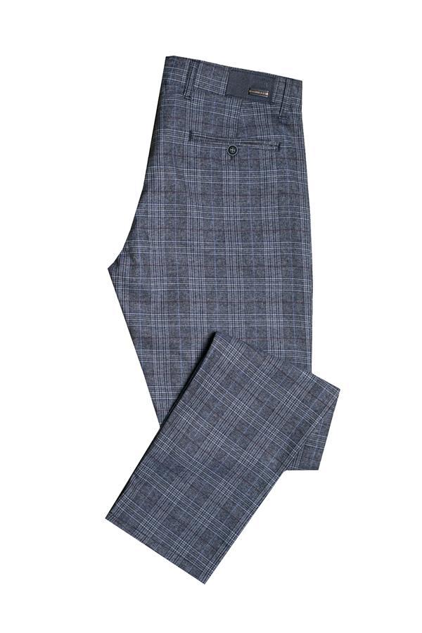 Spodnie męskie w kratę